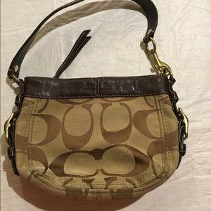 Coach mini hand bag, very cute and classic